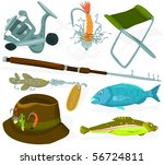 set of a fisher accessories | Shutterstock .eps vector #56724811