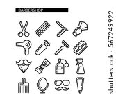 composition of the set icons... | Shutterstock .eps vector #567249922