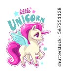 cute vector girlish... | Shutterstock .eps vector #567251128