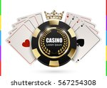 vip poker luxury black and... | Shutterstock .eps vector #567254308