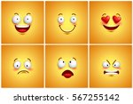funny smileys vector poster... | Shutterstock .eps vector #567255142