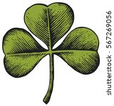 clover with three leaf  ... | Shutterstock .eps vector #567269056