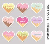 valentine's day stickers.... | Shutterstock .eps vector #567271102