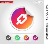 colored icon or button of chain ...   Shutterstock .eps vector #567271498