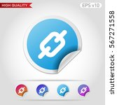 colored icon or button of chain ... | Shutterstock .eps vector #567271558