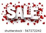 white valentine's sale... | Shutterstock .eps vector #567272242