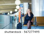 young woman in international... | Shutterstock . vector #567277495
