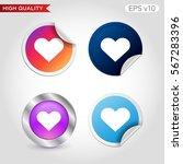 Colored Icon Or Button Of Hear...