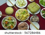 amazing of vietnamese food for... | Shutterstock . vector #567286486