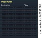 blank mockup flights scoreboard....   Shutterstock .eps vector #567292582