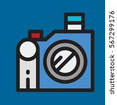 photo camera icon flat design