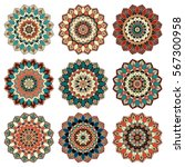 mandala shoulder tattoo.... | Shutterstock .eps vector #567300958