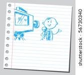 scribble reporter   Shutterstock .eps vector #56730340