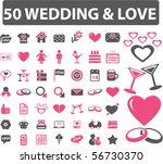 50 wedding   love signs. vector   Shutterstock .eps vector #56730370