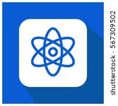 atom science vector icon ... | Shutterstock .eps vector #567309502