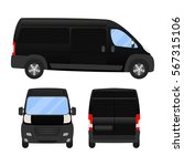 delivery van   layout for... | Shutterstock .eps vector #567315106