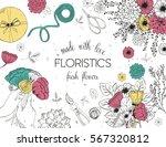 vector design banner for flower ... | Shutterstock .eps vector #567320812