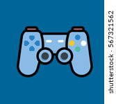 gamepad icon flat design