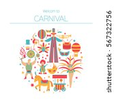 vector collection with carnival ... | Shutterstock .eps vector #567322756