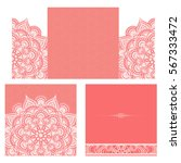 wedding invitation or card .... | Shutterstock .eps vector #567333472