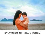 happy family concept  young... | Shutterstock . vector #567340882