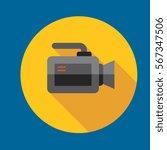 video camera icon flat design
