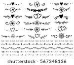 vintage hand drawn set of... | Shutterstock . vector #567348136