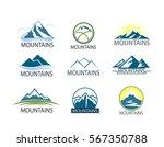 set of mountains logo  icon... | Shutterstock .eps vector #567350788