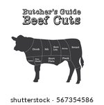 beef cuts  butcher guide with...   Shutterstock .eps vector #567354586