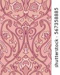 pink floral pattern. seamless... | Shutterstock .eps vector #567358885