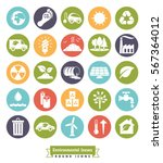 environmental issues icon set.... | Shutterstock .eps vector #567364012