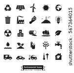 environmental issues icon set.... | Shutterstock .eps vector #567364015