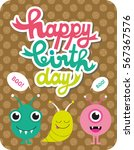 monster party card design.... | Shutterstock .eps vector #567367576