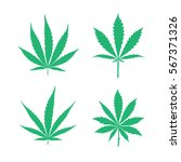 Vector Cannabis Leaves Set  ...