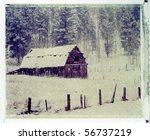 Old Cow Barn In Snow Storm....