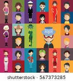 people avatar   with full body... | Shutterstock .eps vector #567373285