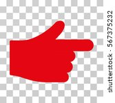 index hand vector icon....