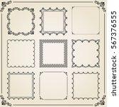 vintage set of elements.... | Shutterstock .eps vector #567376555