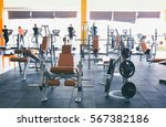 interior of modern gym with... | Shutterstock . vector #567382186