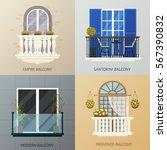 four square compositions set... | Shutterstock .eps vector #567390832