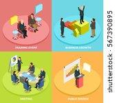 business learning isometric... | Shutterstock .eps vector #567390895