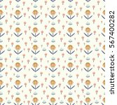 seamless floral pattern with...   Shutterstock .eps vector #567400282
