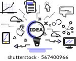flat style  thin line art... | Shutterstock .eps vector #567400966