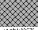 woven fiber seamless pattern.... | Shutterstock .eps vector #567407005