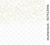 many falling golden tiny... | Shutterstock .eps vector #567413446