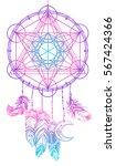 native american indian talisman ... | Shutterstock .eps vector #567424366