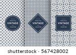 blue line seamless pattern... | Shutterstock .eps vector #567428002