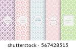 retro pastel seamless pattern... | Shutterstock .eps vector #567428515