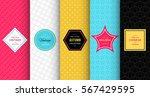 bright modern seamless pattern... | Shutterstock .eps vector #567429595