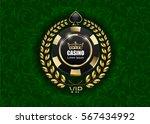 vip poker luxury black and... | Shutterstock .eps vector #567434992